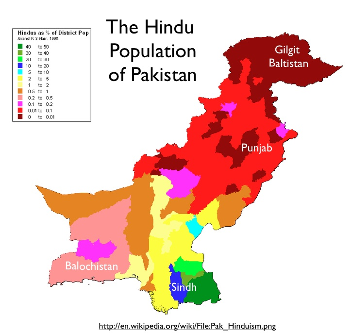 Hindus Flee Pakistanand Other IndoPak Issues GeoCurrents - Hindu countries in world map