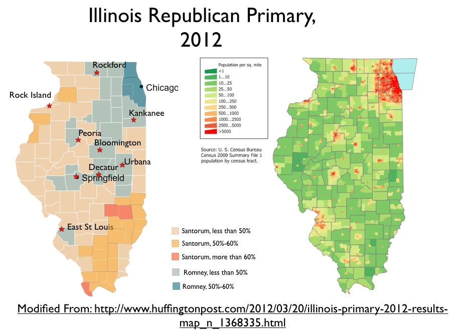 The Geography Of The Illinois Republican Primary GeoCurrents - Illinois physical map