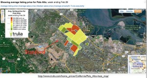 Trulia Palo Alto Real Estate Prices Map