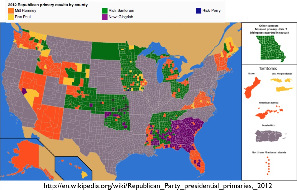 Yesterday S Geonote Examined The Recent Republican Presidential Primary