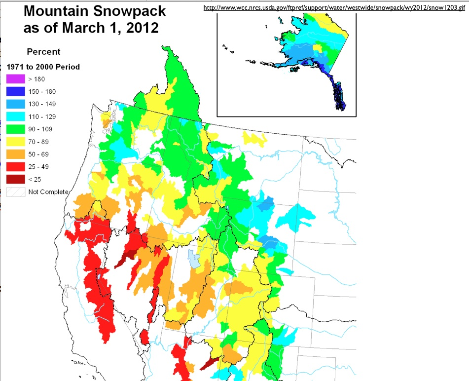 As Can Be Seen From The Second Map California S Snowpack Is Currently Very Light The U S Weather Service However Is Forecasting A Series Of Storms To