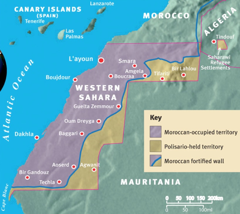 Stalled Negotiations In Western Sahara GeoCurrents - Western sahara map