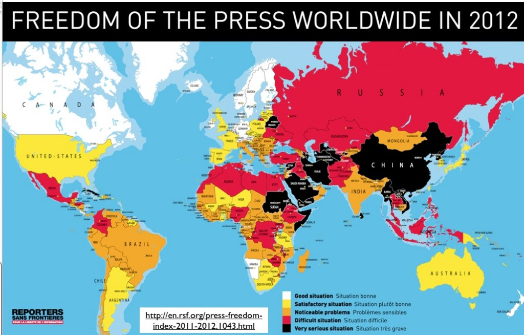 Http Geocurrents Info Wp Content Uploads 2012 04 2012 Press Freedom Map 1024x654 Jpg