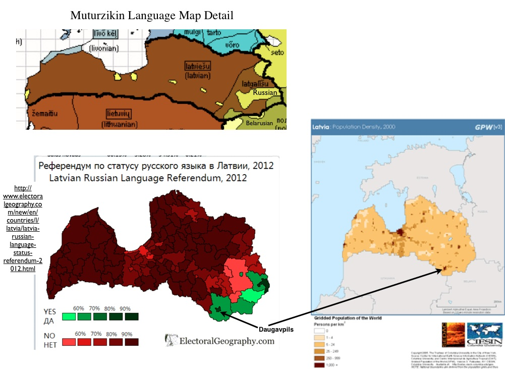 Mapping Language and Politics in Latvia | GeoCurrents