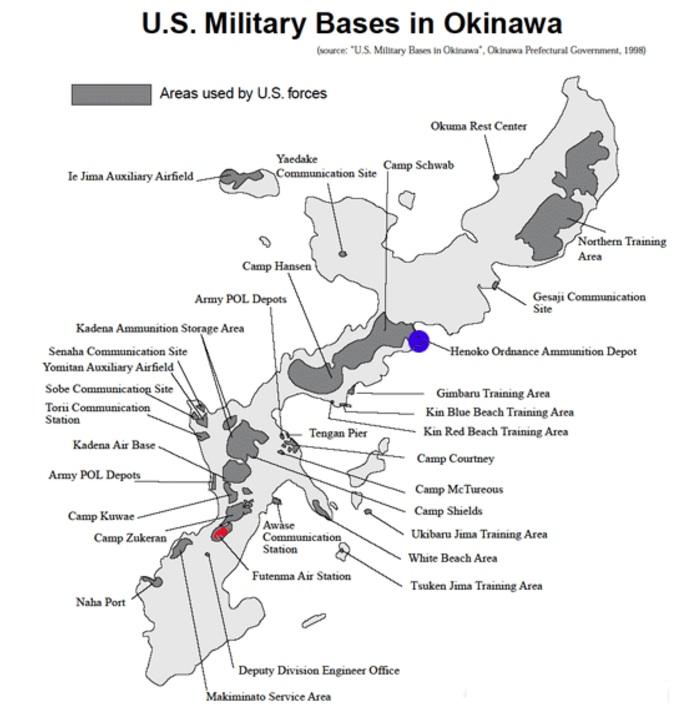 Map Hawaii Okinawa - Us millitary instilation maps hawaii