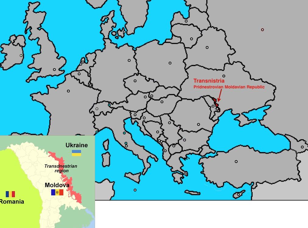 Transnistria Open To Freight Traffic GeoCurrents - Transnistria map