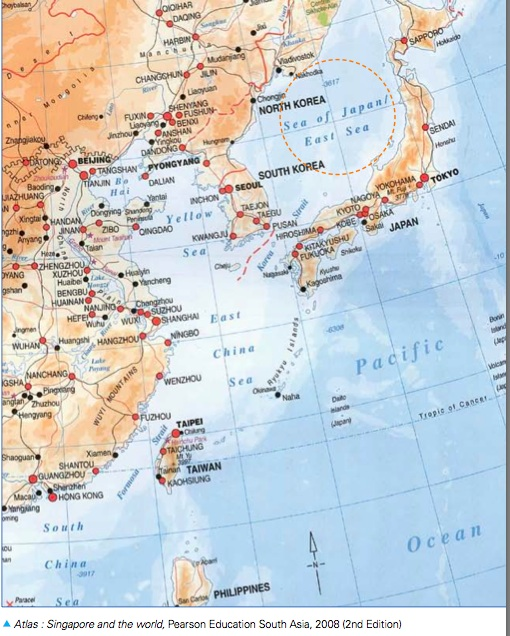 The OnGoing Japan SeaEast Sea Naming Controversy GeoCurrents - Japan map bodies of water