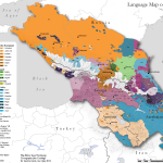 Caucasus language map
