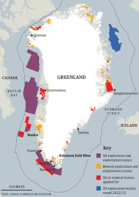 Melting And Mining In Greenland GeoCurrents - Greenland map