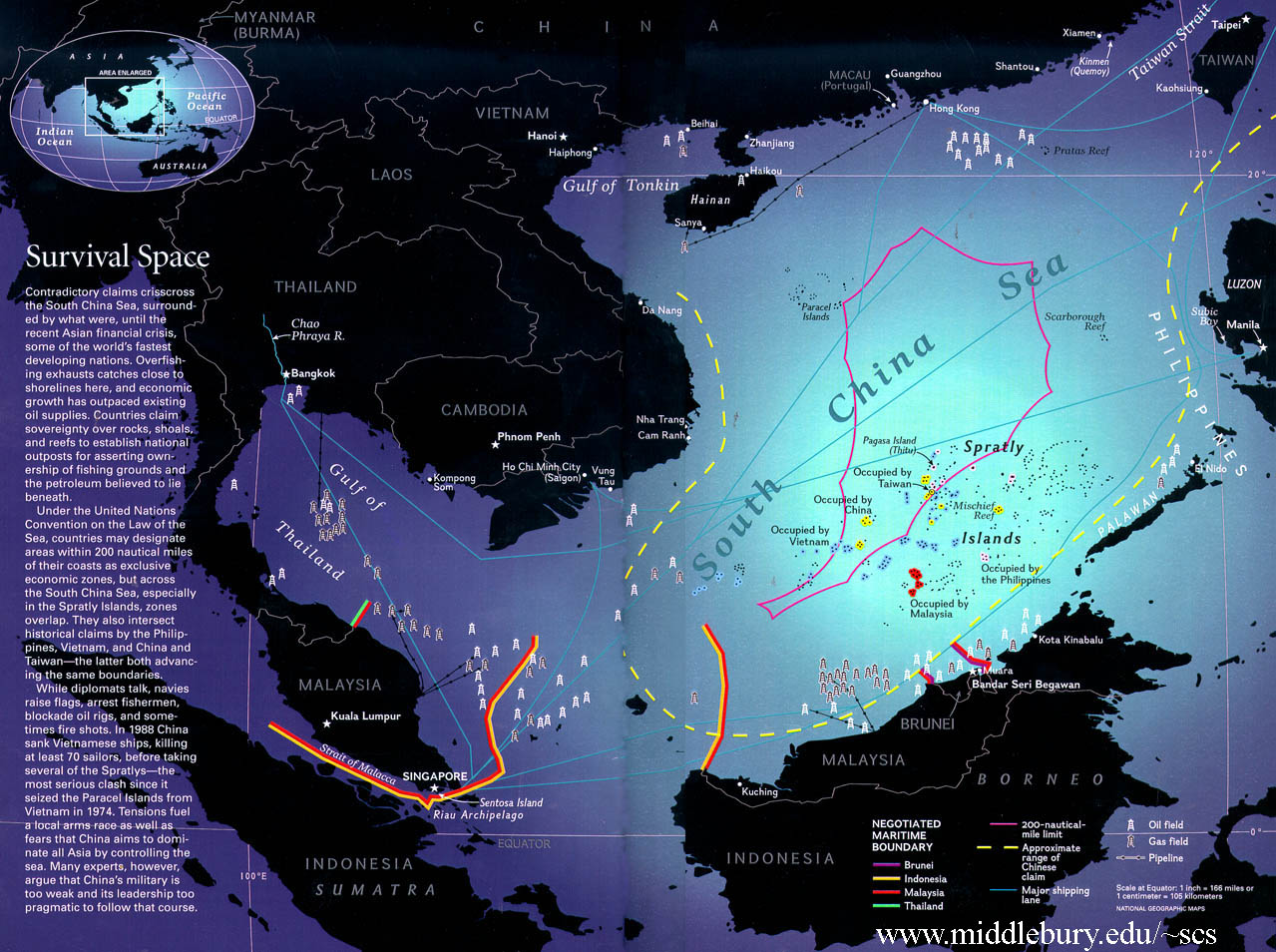 Growing Tensions Over The Paracel Islands GeoCurrents - Economic zones southeast asia map