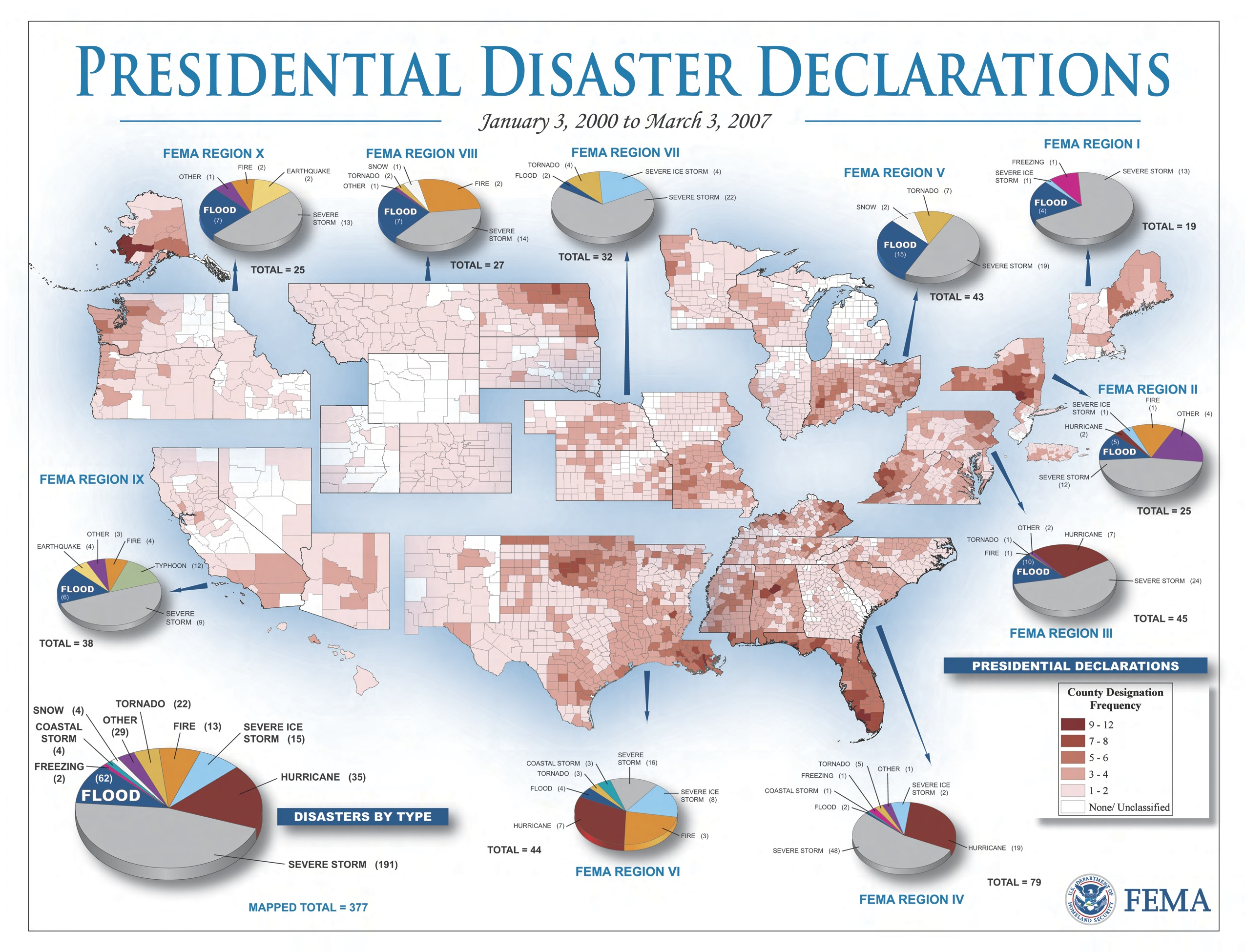 Mapping US Disasters GeoCurrents - Us fema regions map