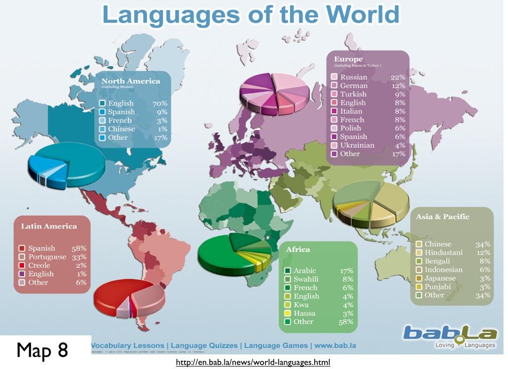 Misleading Language Maps On The Internet GeoCurrents - World map in chinese language