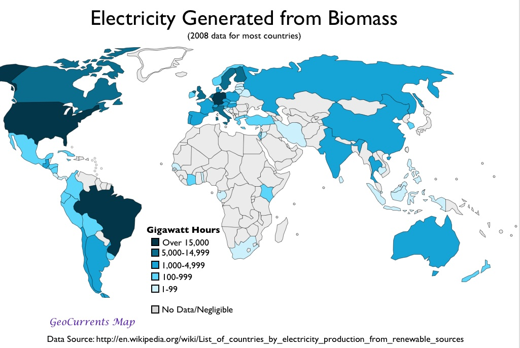 GeoCurrents Maps Of The World World Regions GeoCurrents - Biomass power consumption map us