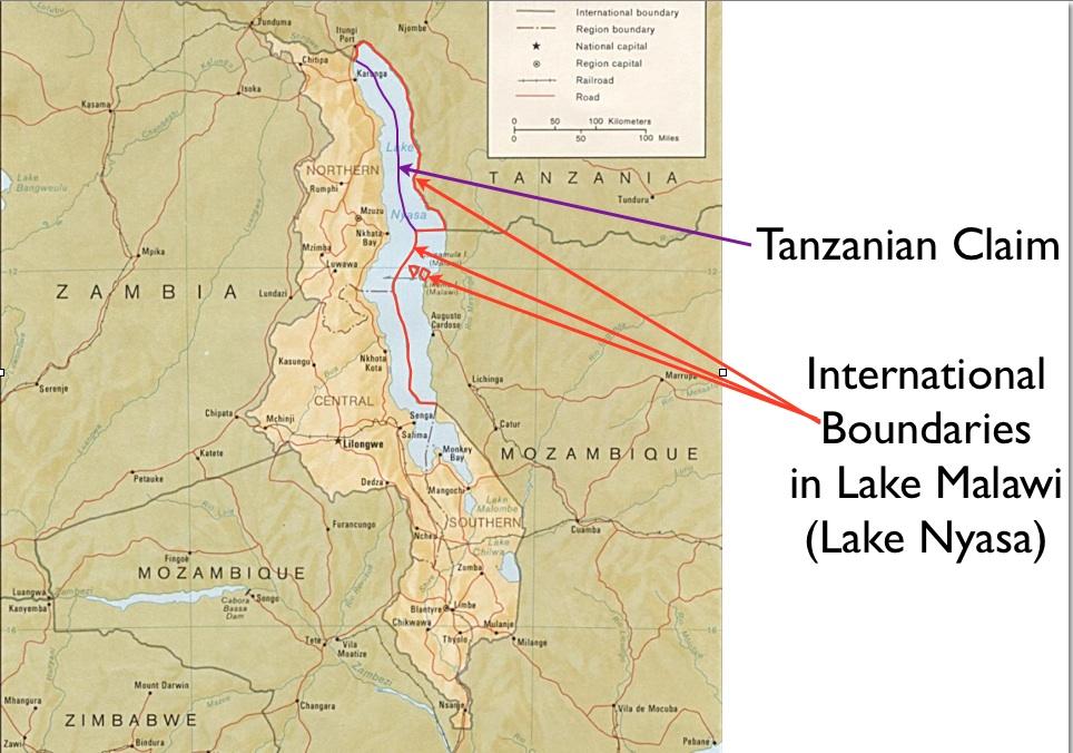 Malawi On Africa Map.Malawi And Tanzania Spar Over Lake Malawi Nyasa Geocurrents