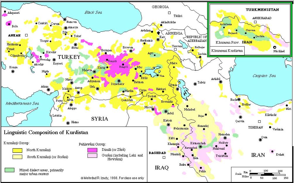 Kurdish dialects ...