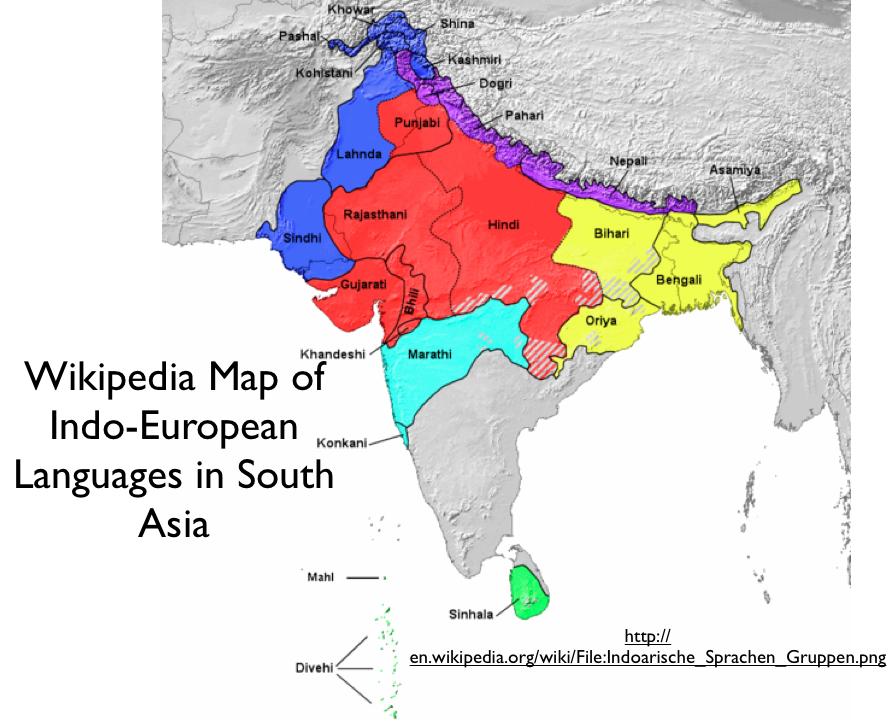 Errors In Mapping IndoEuropean Languages In Bouckaert Et Al - North america map in gujarati
