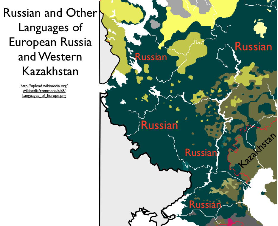 Errors In Mapping IndoEuropean Languages In Bouckaert Et Al - World map russian language