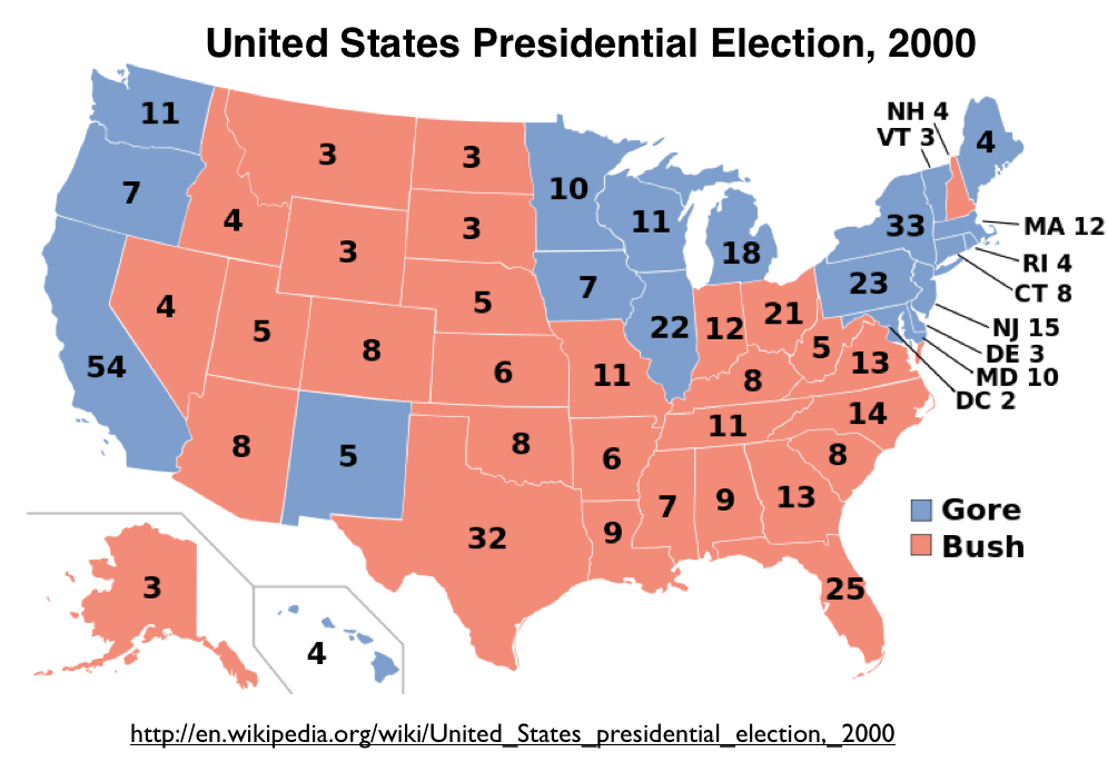 Preliminary Observations On The  US Presidential Election - Picture of a us presidential electoral map