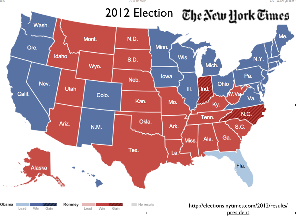 Preliminary Observations On The US Presidential Election - 2012 presidential election us map