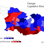 map of 2012 Georgian legislative elections