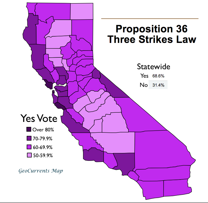 an analysis of california proposition 184 three strikes and youre out