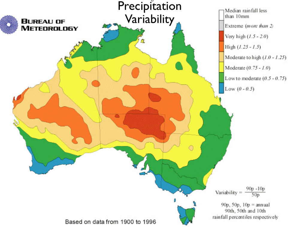 Geographical Map Of Australia.Australia S Climatic Anomalies