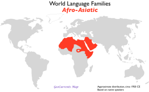 Afro-Asiatic Language Family Map