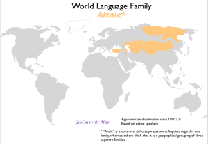 Altaic Language Family Map