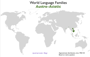 Austro-Asiatic Language Family Map