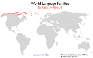 Eskimo-Aleut Language Map
