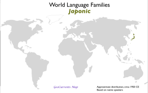 Japonic language family map
