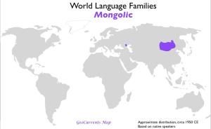 Mongolic Language Family Map