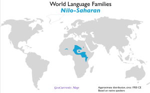 Nilo-Saharan Language Family Map