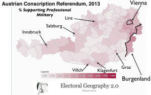 Austrian Conscription Election Map
