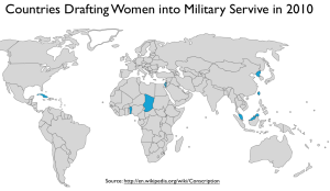 Conscription of Women Map