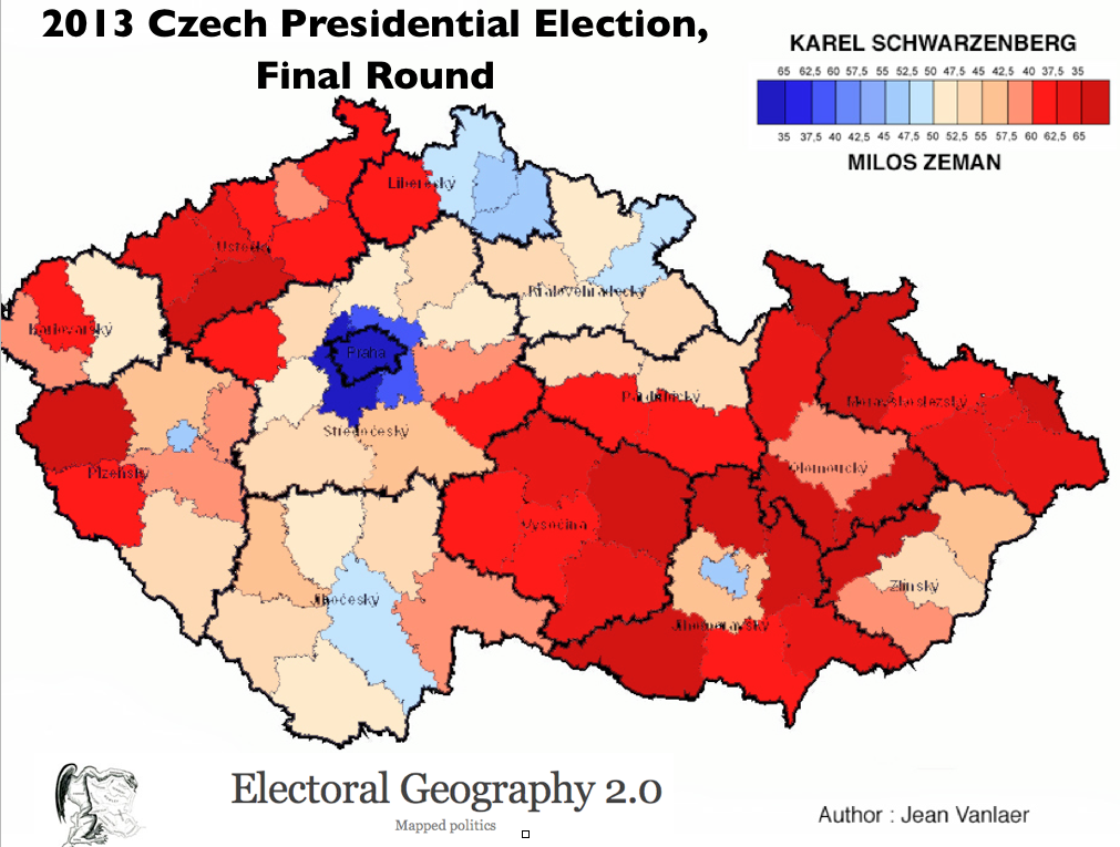 Geographical Patterns in the Czech Presidential Election GeoCurrents