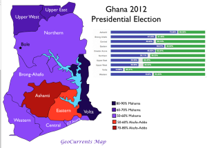 Ghana 2012 Presidential Election Map