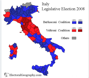 Italy 2008 election map