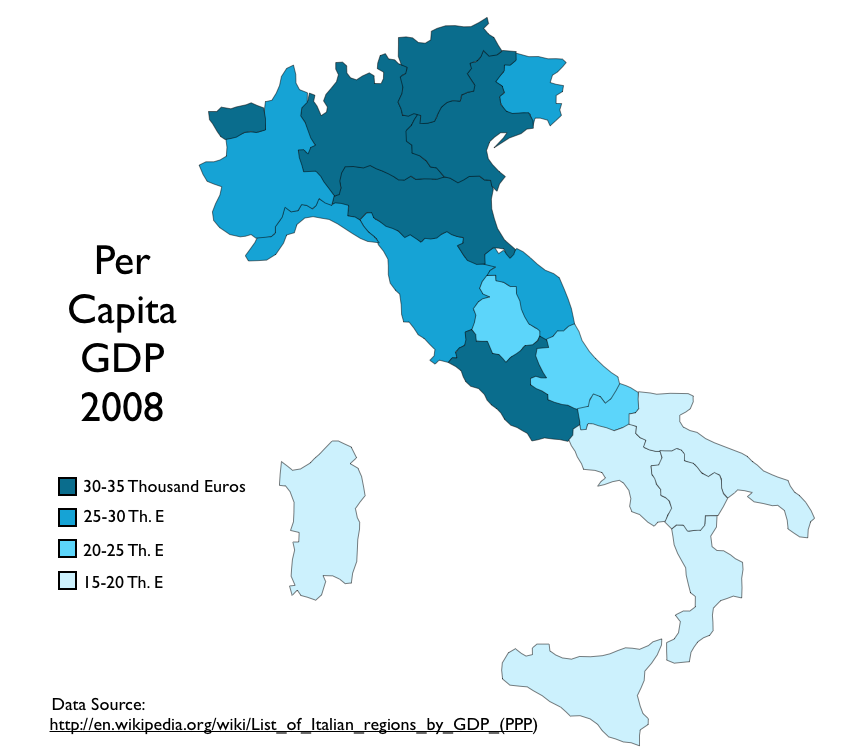 Map Of Southern Italy Regions.Election Returns And Economic Development In Italy Geocurrents