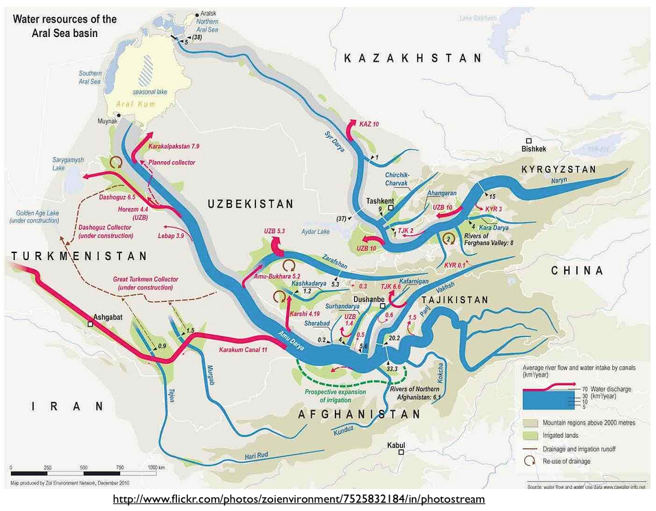 Asia Map With Rivers.Zoi S Fantastic Central Asia Water Map And Turkmenistan S Geo