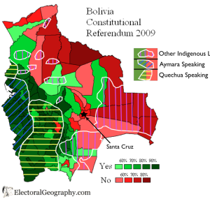 Bolivia 2009 Election Languages Map