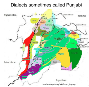 Dialects Sometimes Called Punjabi Map