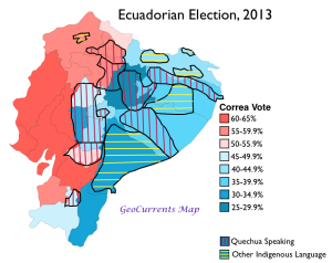 Ecuador 2013 Election Languages Map