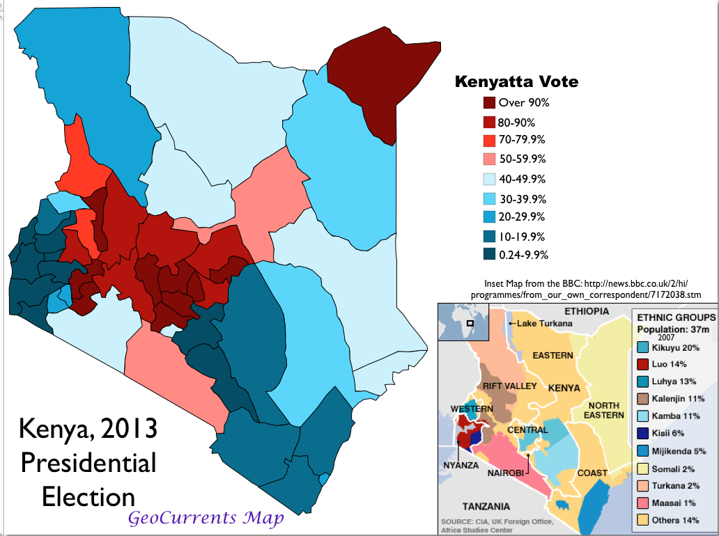 Kenya 2013 Election Map