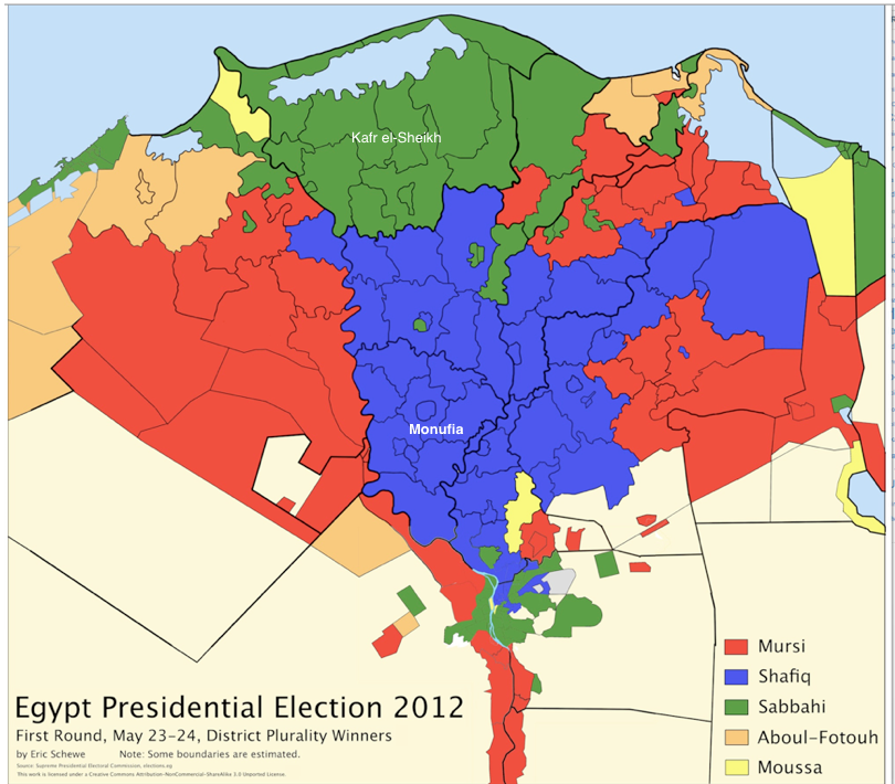 The CorePeriphery Pattern In Egyptian Electoral Geography - Map of egypt delta