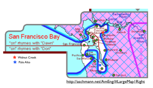 San Francisco Bay Area dialects map