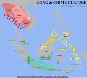Southeast Asia Gong Culture Map