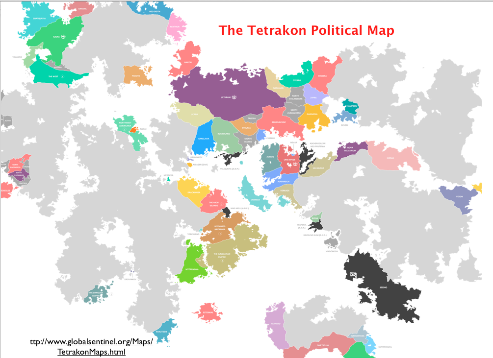 Some Strange Fantasy Maps Geocurrents