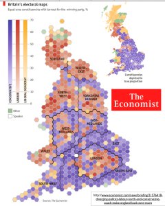 Britain 2010 Economist Election Map