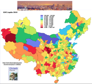 China GDP by Prefecture Map